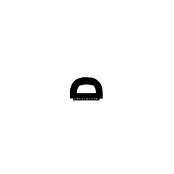 dichtungen onlineshop d profil 8 mm breit f r 4 6 mm spalt in wei. Black Bedroom Furniture Sets. Home Design Ideas